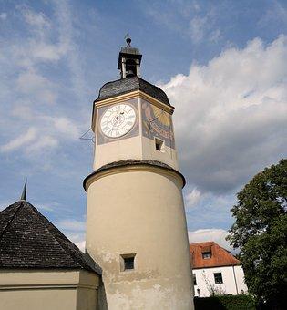 Burghausen, Castle, Longest Castle In Europe, Sundial