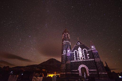 Church, Stars, Dunlewy, Travel, Landmark, Christian