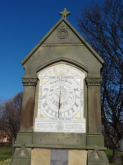 Sundial, Clock, Middlesbrough, Time, Historic