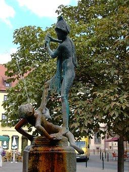 Fountain, Sculpture, Bronze, Coway Boys, A Few Market