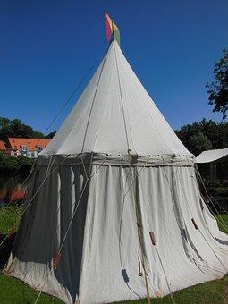 Medieval, Market Tent, Crafts, Medieval Market, Linen