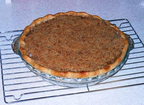 Apple Crumble Pie, Baking, Dessert, Sweet, Homemade