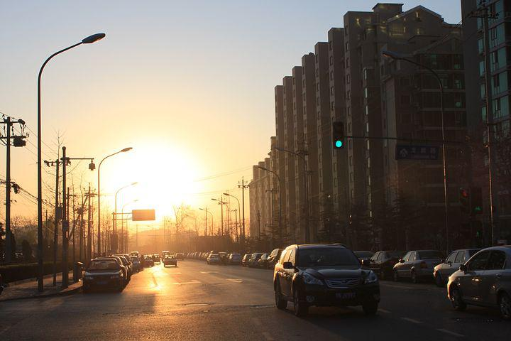 The Morning Sun, Early In The Morning, City, Street