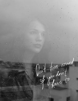 Quote, Love, Girl, Glass, Rain, Drops, Face, Waiting