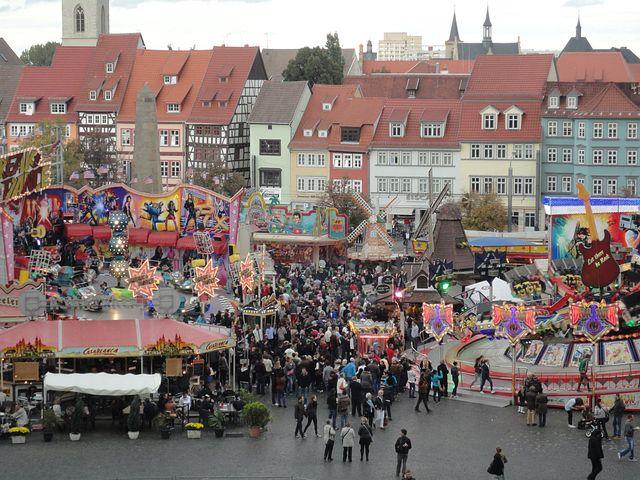 Erfurt, Town Festival, Folk Festival, Historical Houses