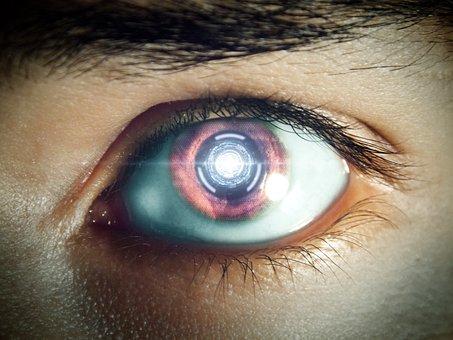 Future, Eye, Robot Eye, Machine, Futuristic