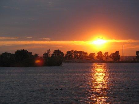 Sunset, Russia, Kazan Marina