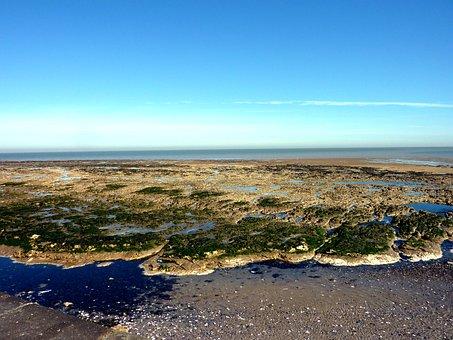 Birchington-on-sea, Sea, Landscape, Sky, Summer, Coast