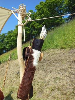 Medieval, Arrow Quiver, Leather, Handmade