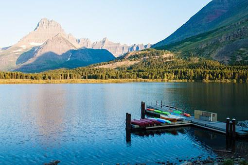 Swift Current Lake, Glacier, Panoramic, Montana, Lake