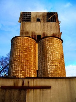 Silo, Industry, Old, Plant, Industrial, Storage, Tank