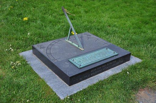 Sundial, Halifax, Public Gardens, Scenery, Park, Green
