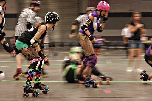 Rollerderby, Skate, Roller-skating, Recreation, Sports