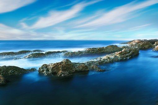 Waterscape, Landscape, Rock, Water, Forest, Green