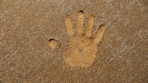 Hand, Print, Sand, Decal, Design, Pattern, Kid, Imprint