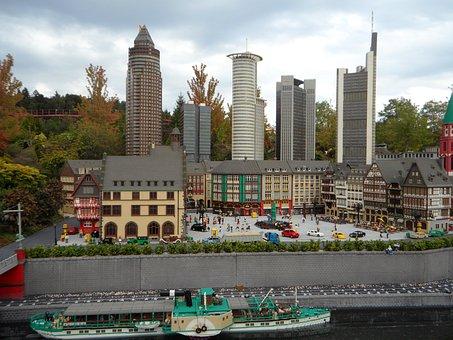 Frankfurt, Mini World, Building, Skyscraper, From Lego