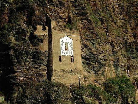 Sundial, Old, Vineyard, Wall, Rocky Mountains, Mountain