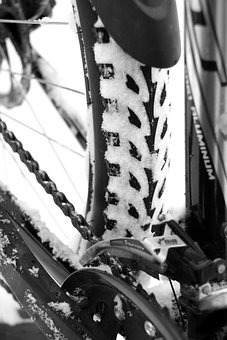 Bike, Cold, Cycling, Mountain, Riding, Snow, Tyres