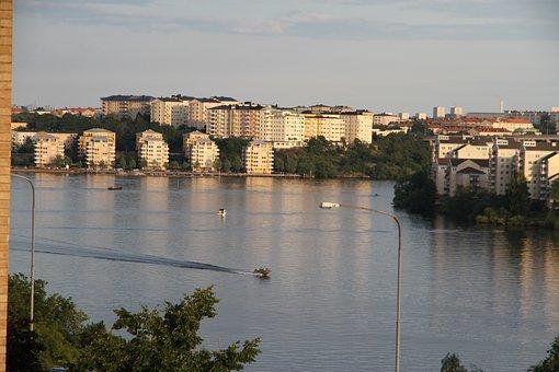 Ulvsundasjön, Stockholm, Boat, Boats