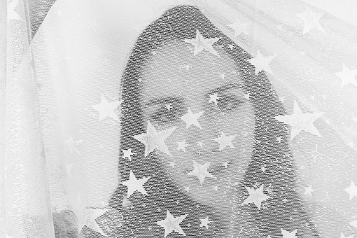 Veiled, Veil, Hidden, Masked, Stars, Eyes, Girl