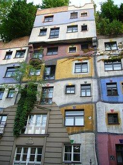 Vienna, Hundertwasser, House, Building
