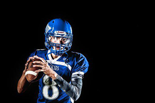 American Football, Athlete, Ball, Football, Helmet, Man