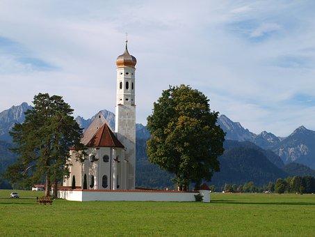 Church, St Coloman, Schwangau, Allgäu, Füssen, Bavaria