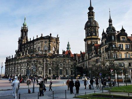 Castle Church, Germany, Dresden, Castle, Theatre Square