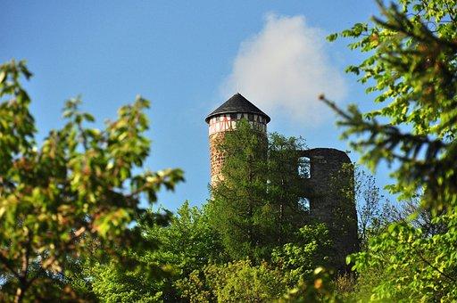 Castle, Steinbach-hallenberg, Sky, Castle Hall, Trees