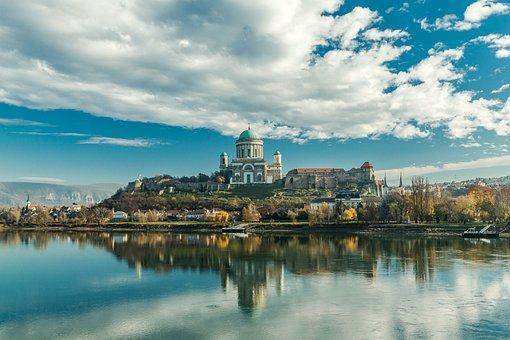 Esztergom, Basilica, Church, Mountain, Castle