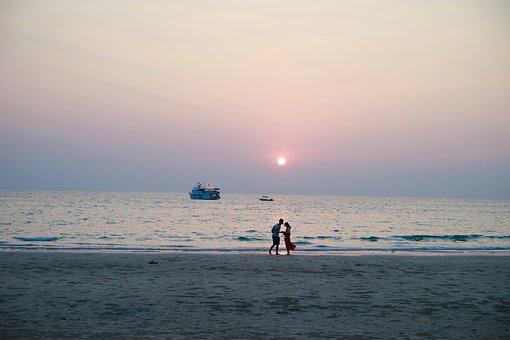 Koh Chang, Sunset, Beach, Couples