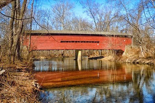 Pennsylvania, Covered Bridge, Historic, Landmark, Wood