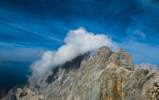 Clouds, Mountain, Dachstein, Schladming, Alpine, Sky