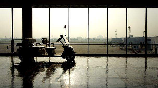 Golf Car, Airport, Travel, Tourism, Don Muang, Thailand