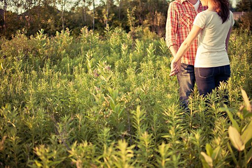 Countryside, Couple, Engaged, Environment, Field, Grass