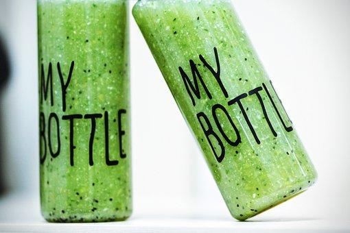Bottle, Smoothies, Detox, Drink, Healthy, Green, Fresh