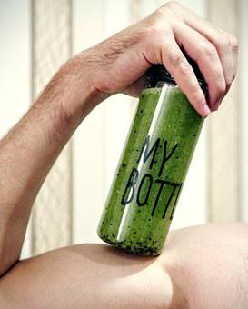 Bottle, Arm, Smoothies, Detox, Drink, Healthy, Green