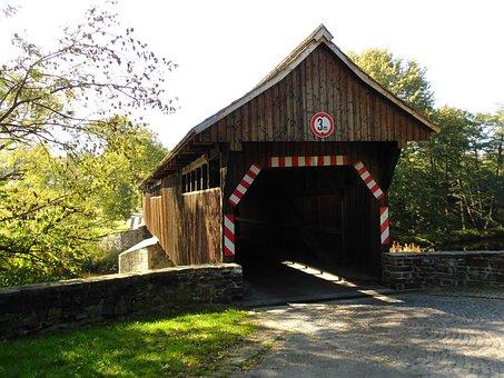 High Spruce, Saxony, Covered Bridge, Historically
