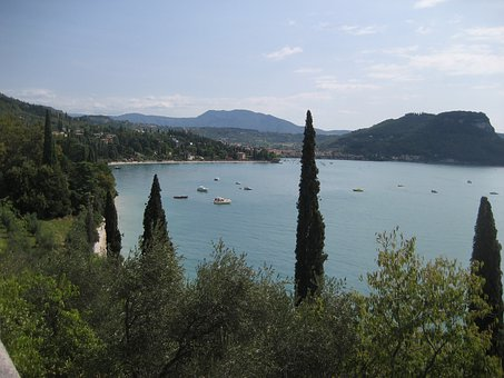 Garda, Lago Di Garda, Lake, Pine, Holiday, Italy