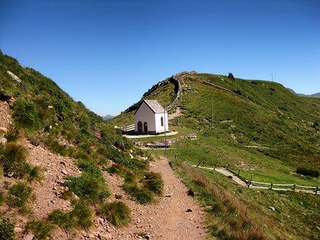 Latsch, Italy, Church, Faith, Religion, Mountains