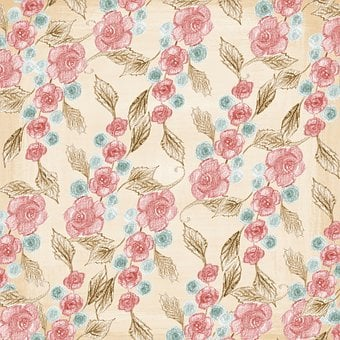 Background, Page, Template, Floral, Pink, Colorful