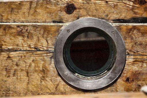 Window, Redondo, Wood, Brown, Light, Sol, Detail, Boat