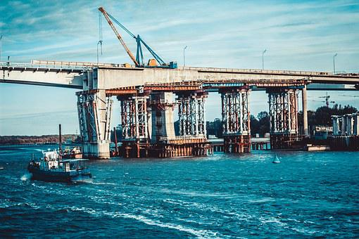 Rostov, Don, River, Bridge, Atmosphere