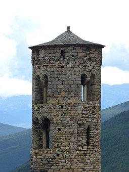 Bell Tower, Romanesque, Pyrenee Catalunya