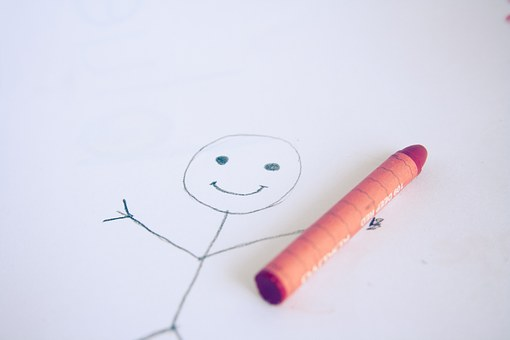 Stick Figure, Stickman, Smiley, Drawing, Child, Sketch