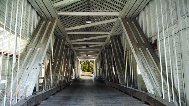 Covered Bridge, Structural, Rural, Bridge, Structure