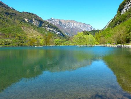Tenno Lake, Lago Di Tenno, Italy, Lake, Waters