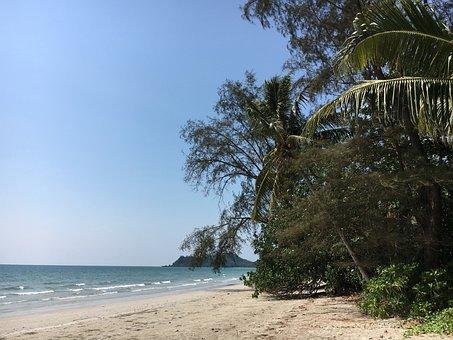 Asia, Thailand, Koh Chang, Palm Trees, Landscape, Beach