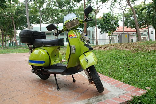 Scooter, Green, Transport, Vehicle, Travel