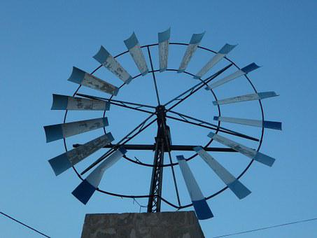 Pinwheel, Wind Energy, Mallorca, Metal, Wind, Energy